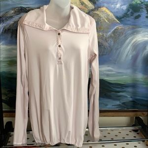 Long sleeved button on Lululemon size L